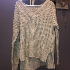 Hollister V-Neck Fuzzy Sweater